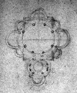 floor plan sketch by Gaudi